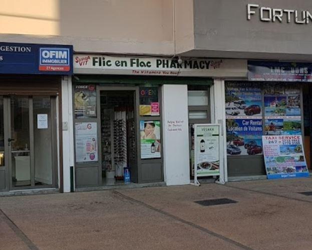 Flic en Flac Pharmacy, Tel: 453 9112 listed at www.chez.mu