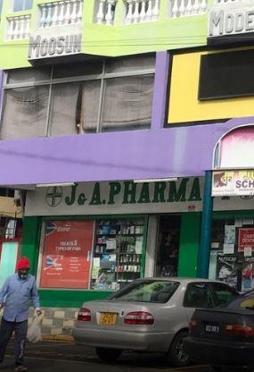 J & A Pharmacy, Vacoas, Tel: 696 3755 listed at www.chez.mu