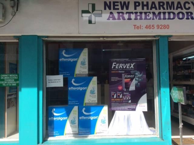 New Arthemidor Pharmacy, Beau Bassin, Tel: 465 9280 listed at www.chez.mu