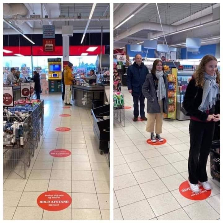 Corona Tip: How to keep distance in Supermarket